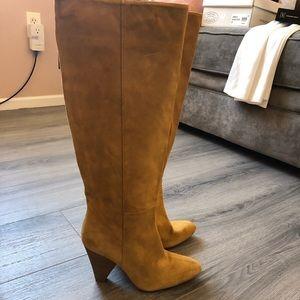 Zara Suede Knee Boots